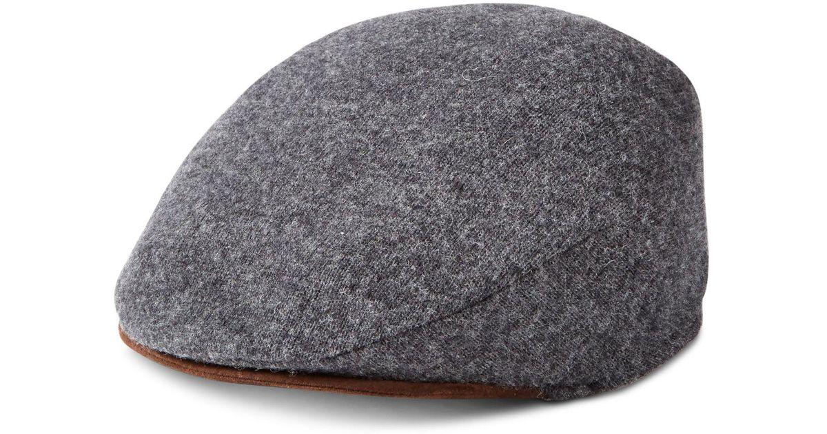 b43fa1e6062ce Lyst - Polo Ralph Lauren Men s Solid Driver Cap in Gray for Men