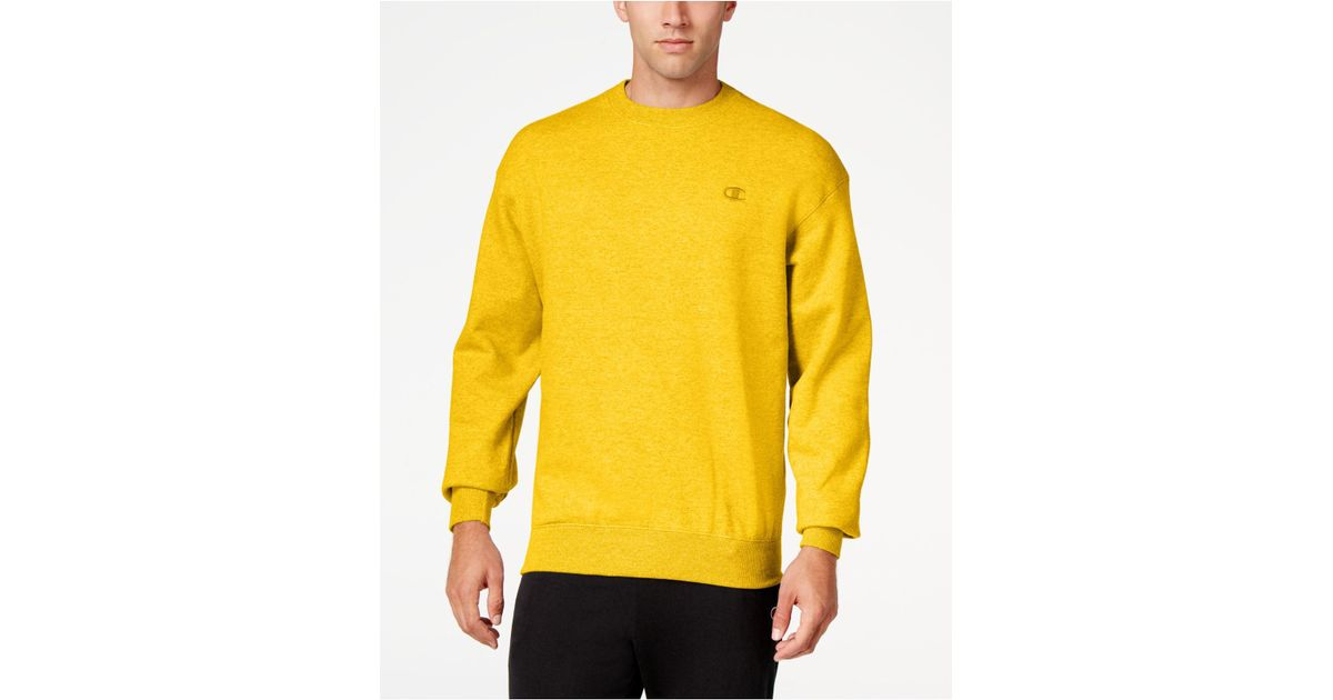 Lyst - Champion Men s Powerblend Fleece Sweatshirt in Yellow for Men f816da971e3a