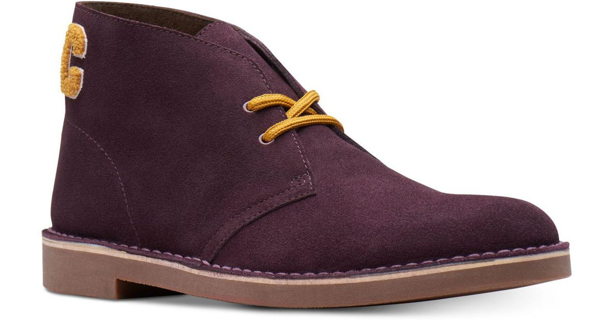 c1f257e12a015 Clarks Limited Edition Varsity Suede Bushacres, Created For Macy's in Purple  for Men - Lyst