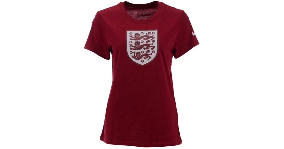 f594d79e86e Nike England National Team Evergreen Crest T-shirt in Red - Lyst