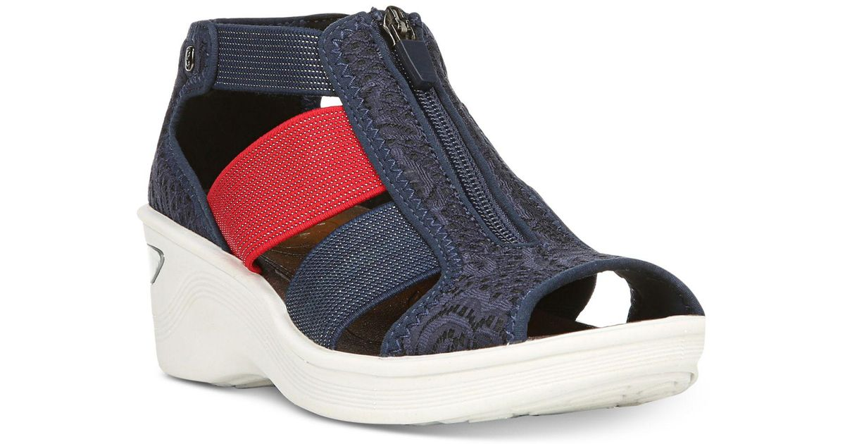 1a6f1554278 Lyst - Bzees Duet Sandals in Blue