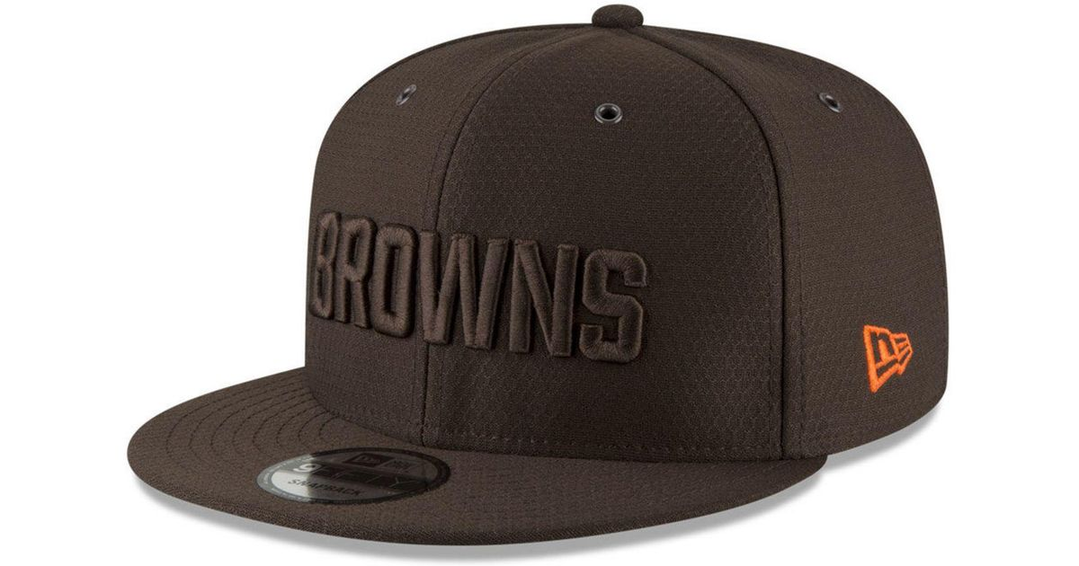 9721086e2 Lyst - KTZ Cleveland Browns On Field Color Rush 9fifty Snapback Cap in  Brown for Men