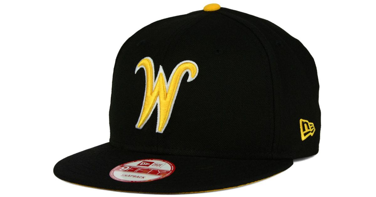 new style 4e405 8c762 Lyst - KTZ Wichita State Shockers Core 9fifty Snapback Cap in Black for Men