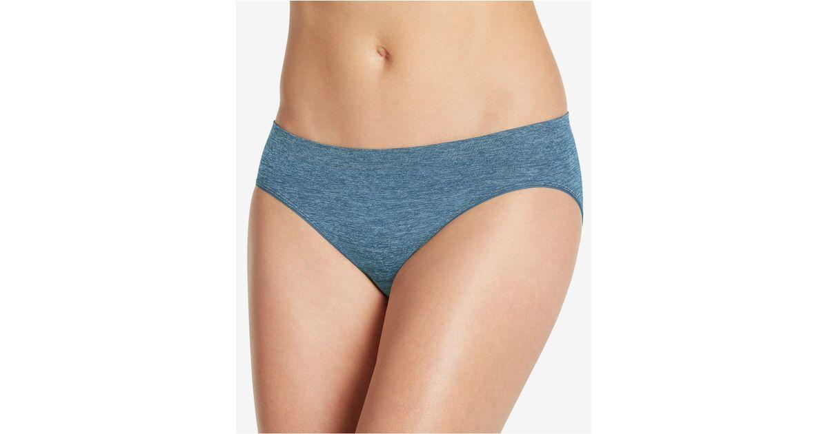 7b9d60b09b036 Lyst - Jockey Smooth And Shine Seamless Bikini 2186 in Blue