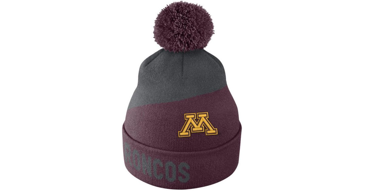 brand new c2931 eb80c Lyst - Nike Minnesota Golden Gophers Champ Pom Knit Hat in Purple