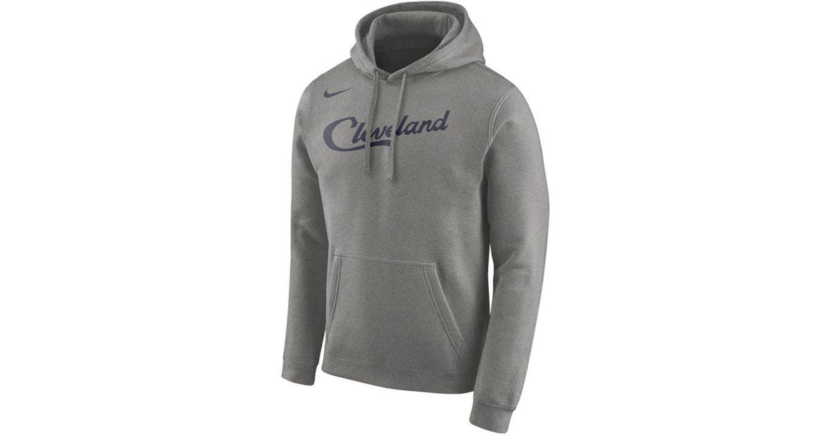 dc4f8e2d776 Lyst - Nike Cleveland Cavaliers Earned Edition Logo Essential Hoodie in  Gray for Men