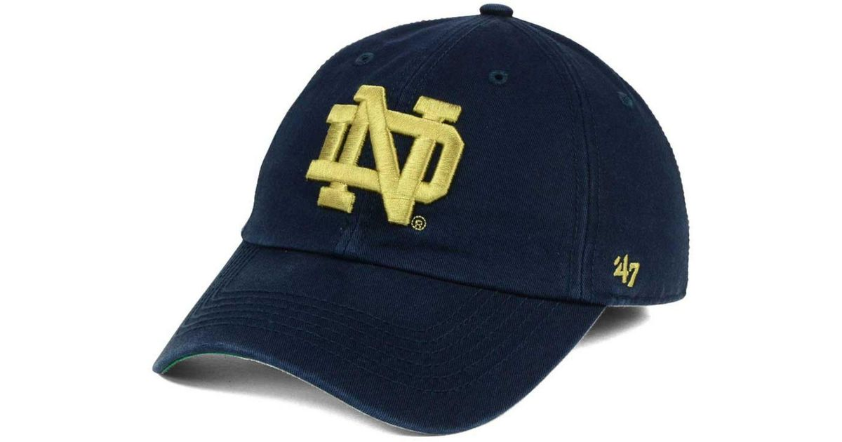 24fdcd1f68f Lyst - 47 Brand Notre Dame Fighting Irish Franchise Cap in Blue for Men