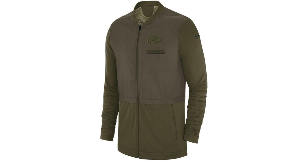 623e7db62389 Lyst - Nike Kansas City Chiefs Salute To Service Elite Hybrid Jacket in  Green for Men