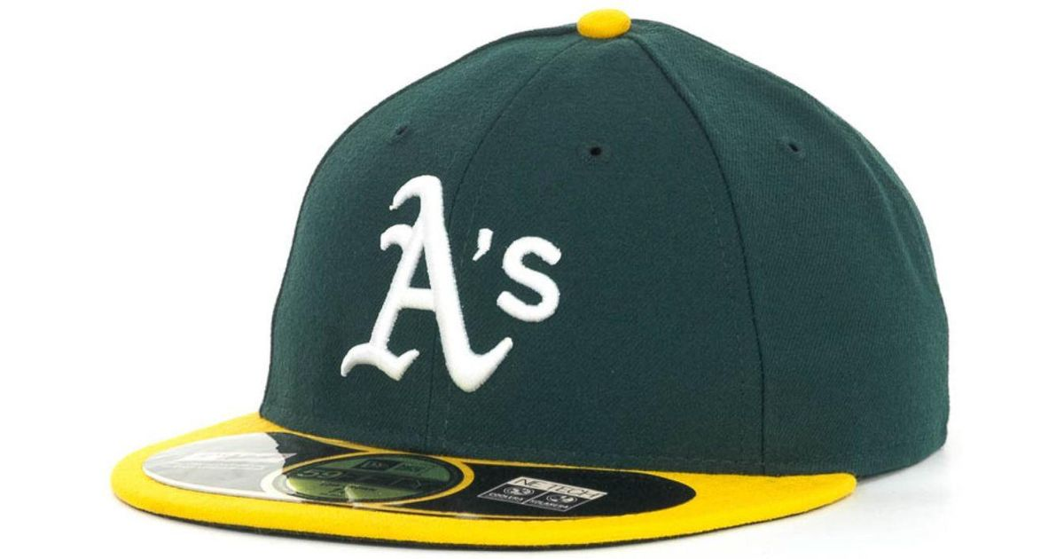 san francisco f4965 1ede3 ... new zealand lyst ktz oakland athletics low crown ac performance 59fifty  cap in green for men