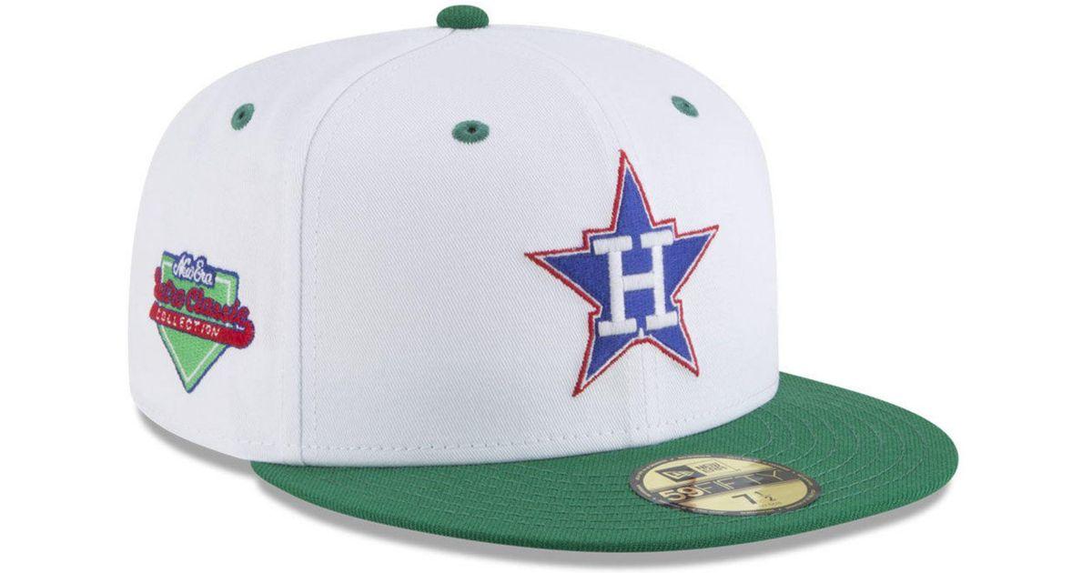 super popular 700d6 bb772 KTZ Houston Astros Retro Diamond 59fifty Fitted Cap in White for Men - Lyst