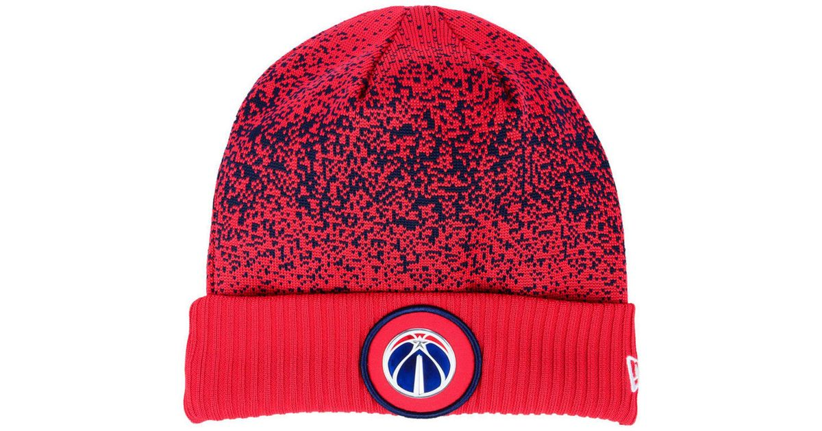 366b47bb87ab2 Lyst - KTZ Washington Wizards On Court Collection Cuff Knit Hat in Red for  Men