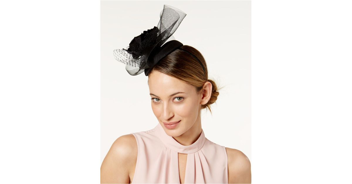 Lyst - August Accessories Embellished Fascinator in Black e34dc936437