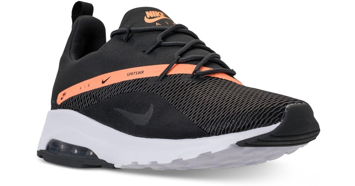 low priced 54e33 6cc11 Nike Air Max Motion Racer 2 Running Sneakers From Finish Line in Black -  Lyst