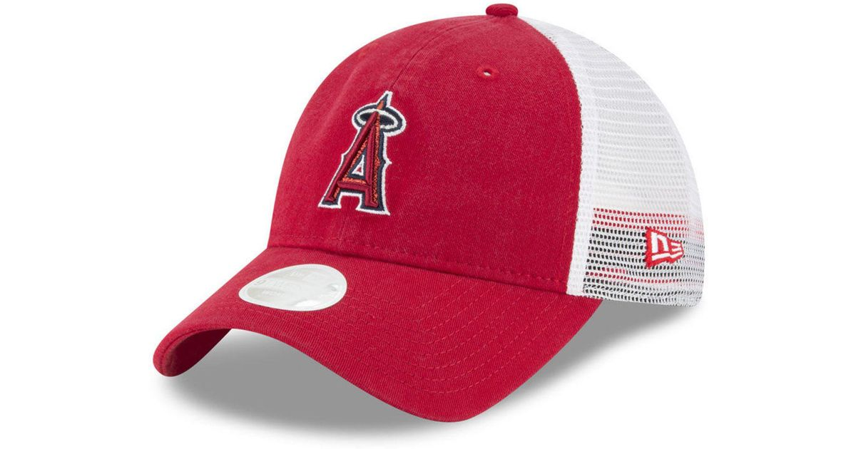 detailed look 621ee b9f0c KTZ Los Angeles Angels Trucker Shine 9twenty Cap in Red - Lyst