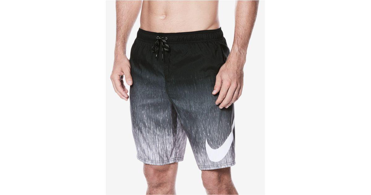 3fcbb692171ec Nike Men's Breaker Faded Swim Trunks in Black for Men - Lyst