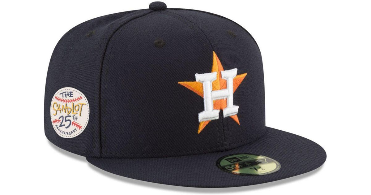 sports shoes a053d bfdd9 ... closeout lyst ktz houston astros sandlot patch 59fifty fitted cap in  blue for men fb626 27e41