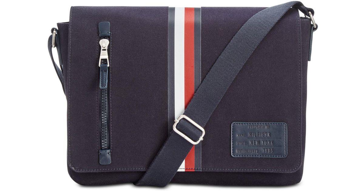 8261125624 Tommy Hilfiger Harrison Messenger Bag in Blue for Men - Lyst