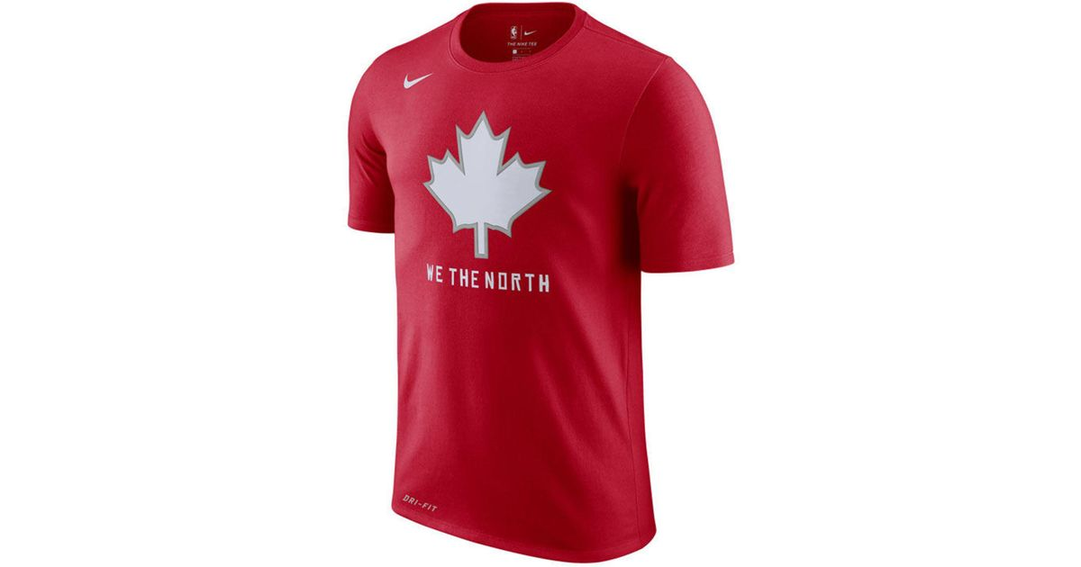 32baccedf Nike Toronto Raptors Nba City Edition Dry T-shirt in Red for Men - Save 51%  - Lyst