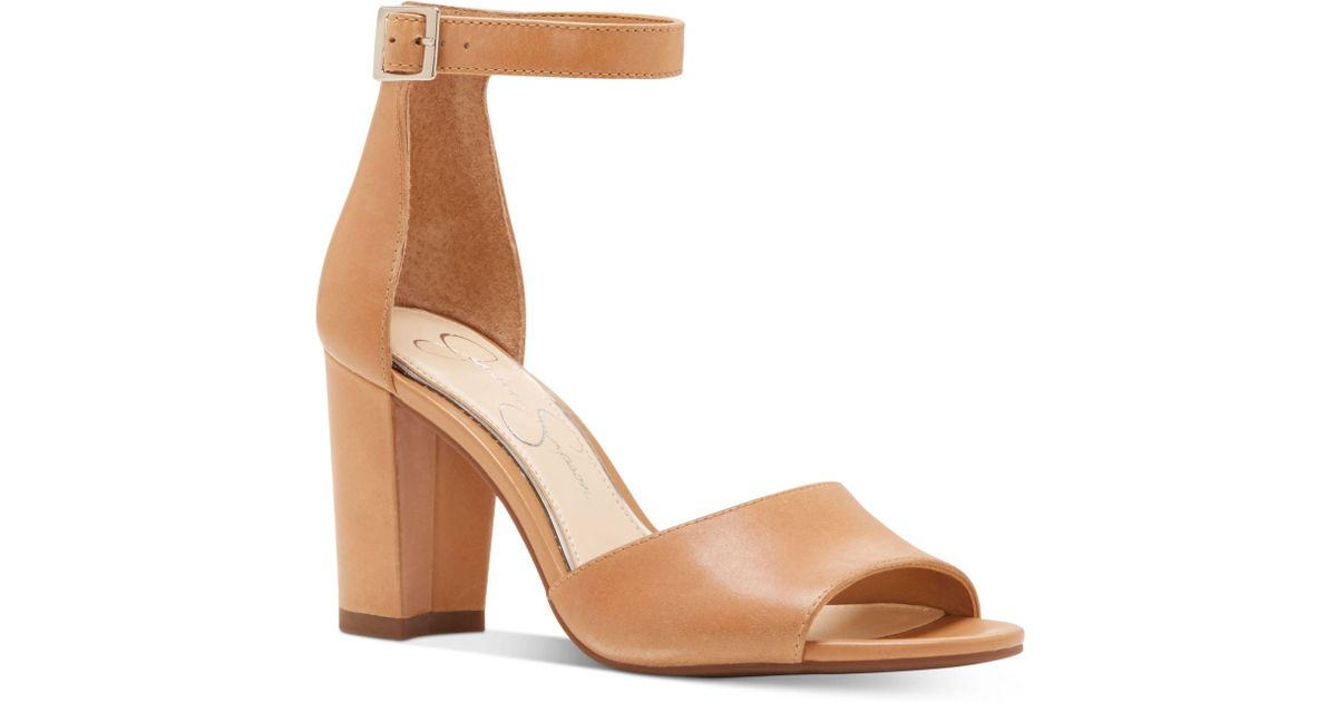 Jessica Simpson Sherron Two-Piece Block-Heel Sandals Women's Shoes F5AYVk