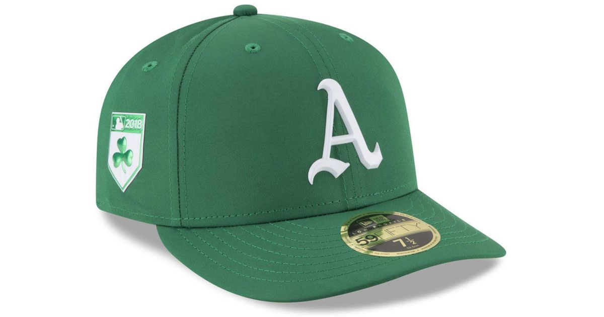 9598553e KTZ - Green Oakland Athletics St. Patty's Day Pro Light Low Crown 59fifty  Fitted Cap for Men - Lyst
