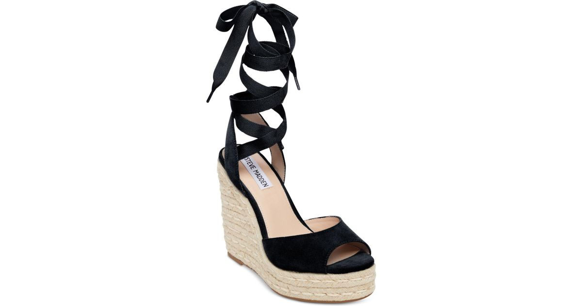 e634e0e3e110 Black Wedges With Ankle Ties - Tie Photo and Image Reagan21.Org
