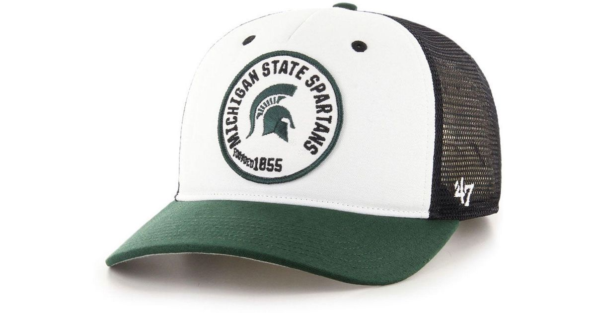 f94401a1dd211 47 Brand Michigan State Spartans Swell Mvp Trucker Snapback Cap for Men -  Lyst