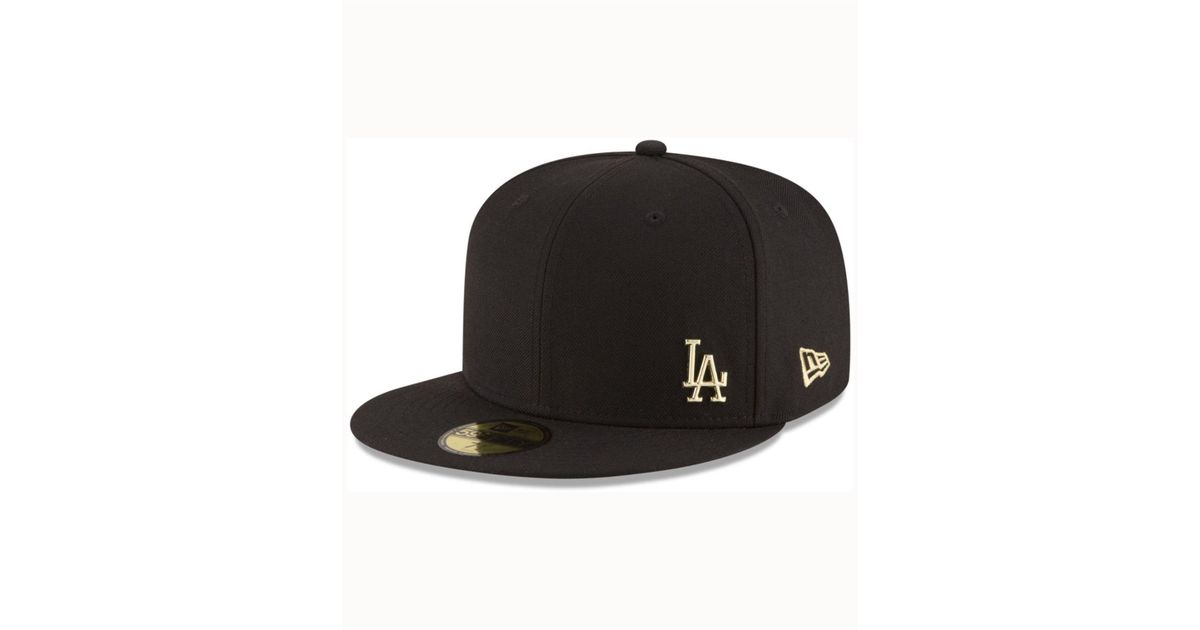 low priced 818bd 826ec KTZ Los Angeles Dodgers Flawless Ogold 59fifty Cap in Black for Men - Lyst