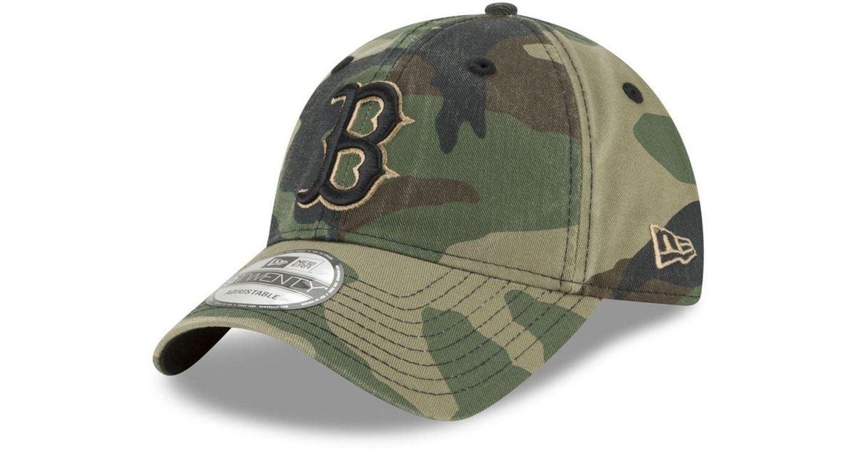 new product a2a70 7a4af Lyst - KTZ Boston Red Sox Camo Core Classic 9twenty Cap in Green for Men