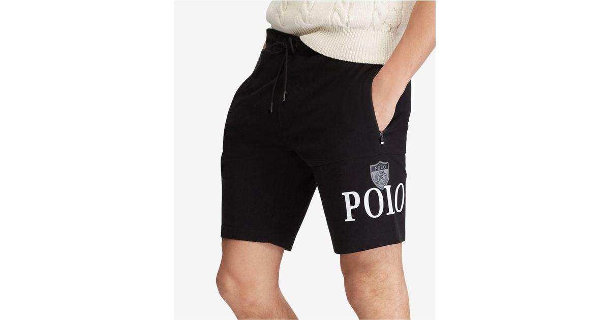 d4de8798d Lyst - Polo Ralph Lauren Jersey Track Shorts in Black for Men