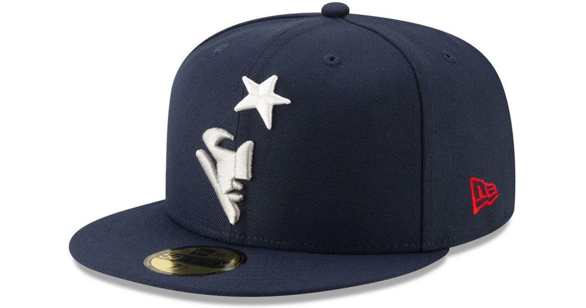 Lyst - KTZ New England Patriots Logo Elements Collection 59fifty Fitted Cap  in Blue ecde82e5c8d