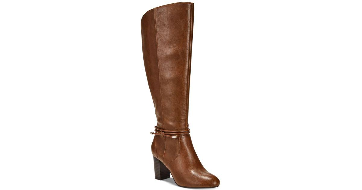 c1832a982ea Lyst - Alfani Giliann Wide-calf Dress Boots in Brown