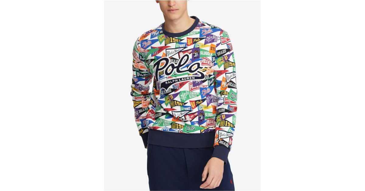 b2928d34b Polo Ralph Lauren Pennant Sweatshirt for Men - Lyst