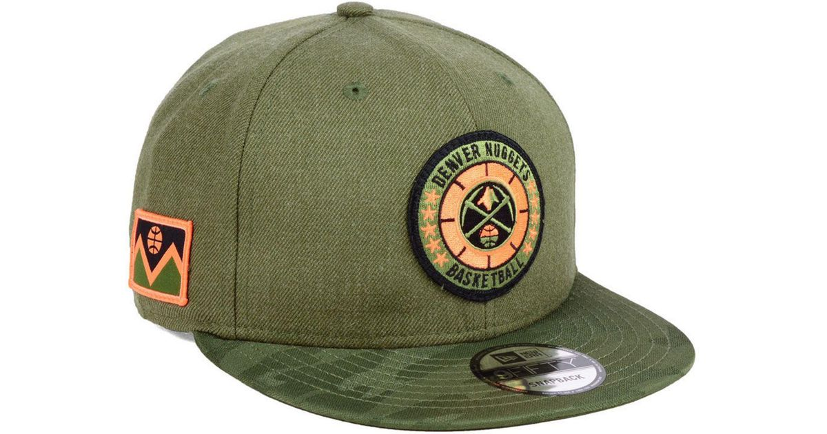 separation shoes efa38 aa788 Lyst - KTZ Denver Nuggets Tip Off 9fifty Snapback Cap in Green for Men