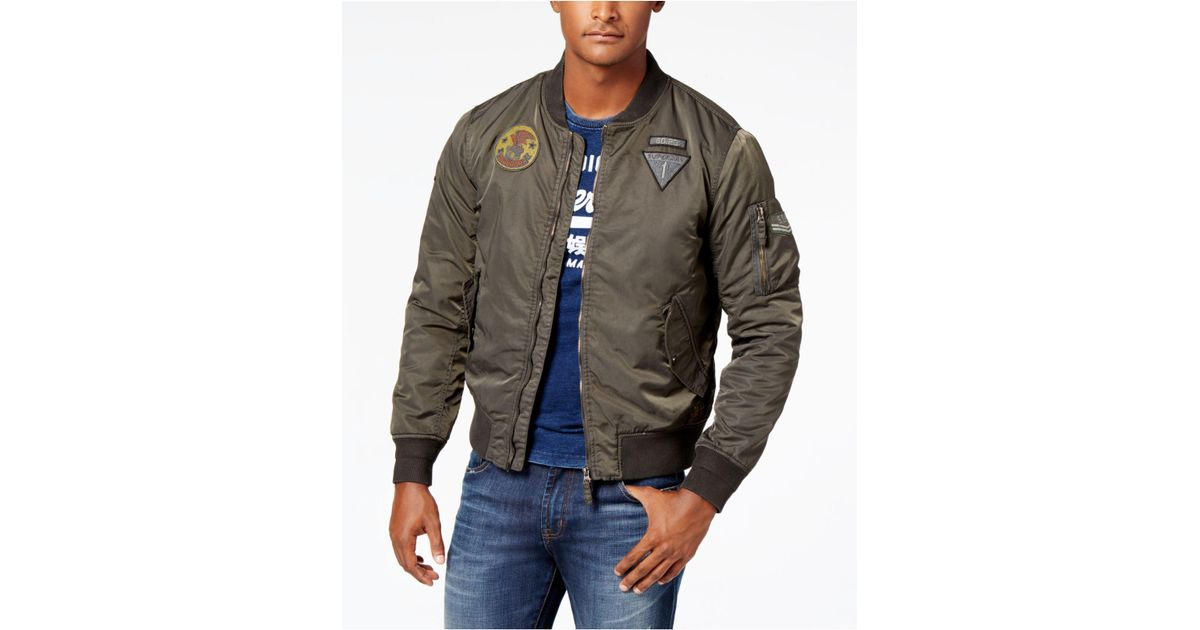 e7f78e66872a9 Lyst - Superdry Men s Limited Edition Flight Bomber Jacket in Green for Men