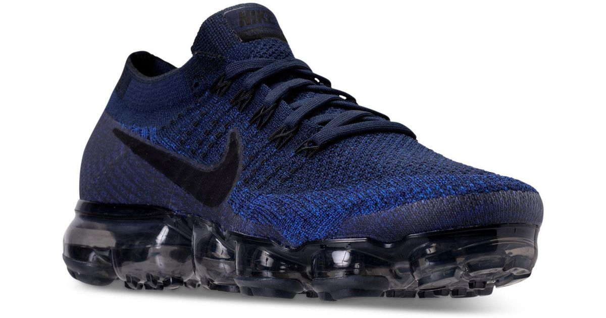 8ac6e7a6748b Lyst - Nike Men s Air Vapormax Flyknit Running Sneakers From Finish Line in  Blue for Men