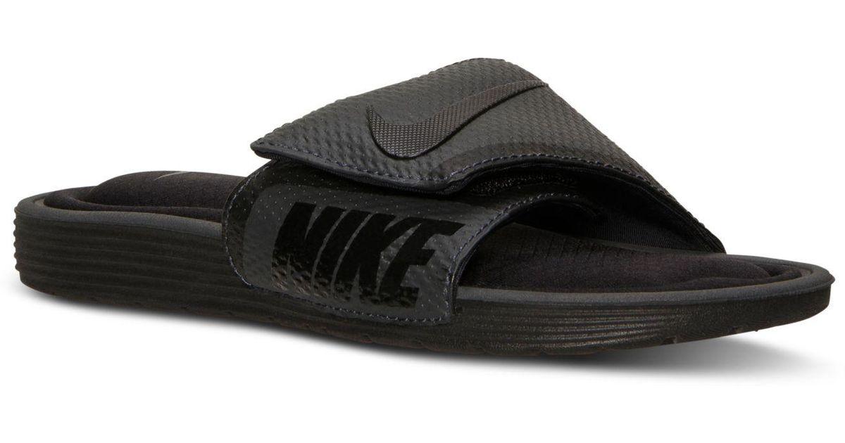 30f0b7551079 Lyst - Nike Mens Solarsoft Comfort Slide Sandals From Finish Line in Black  for Men