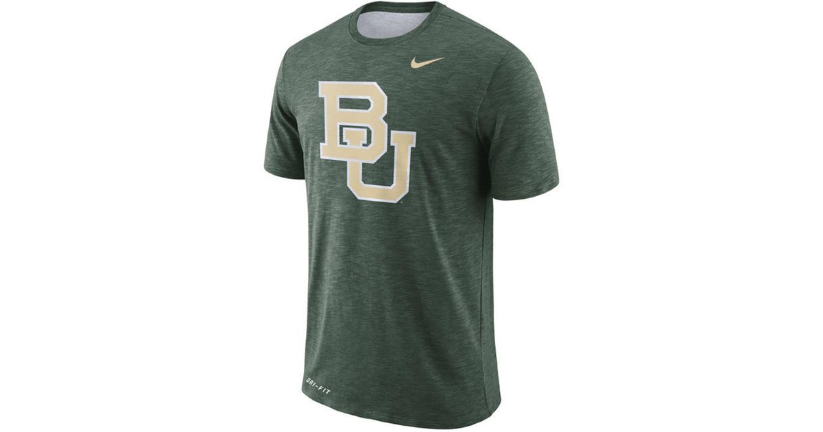 02e554652736 Lyst - Nike Baylor Bears Dri-fit Cotton Slub T-shirt in Green for Men