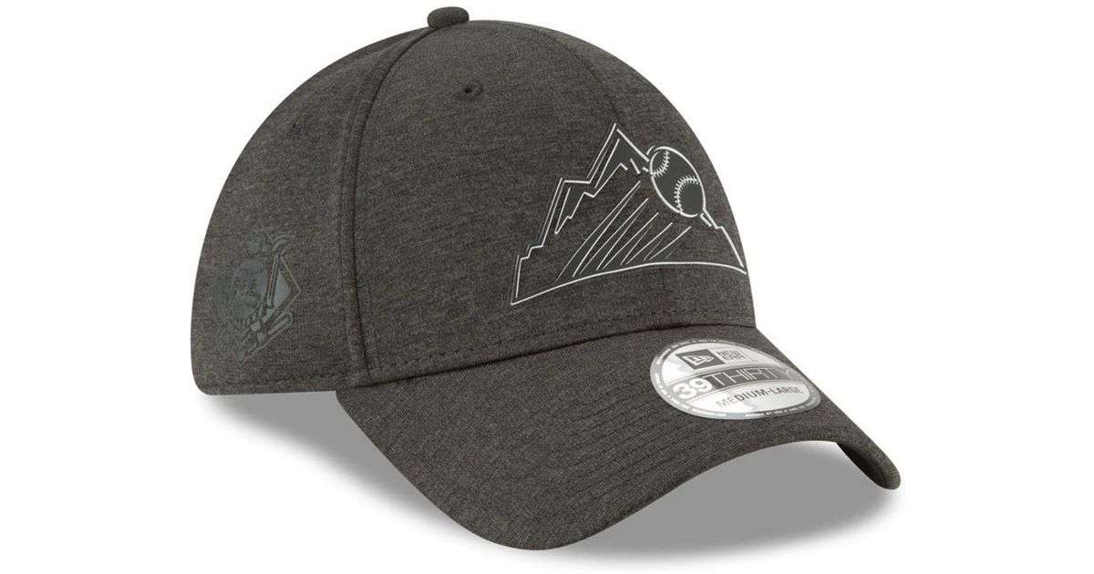 80d2ddf6c9d36 ... where can i buy lyst ktz colorado rockies clubhouse 39thirty cap in  black for men 902cd