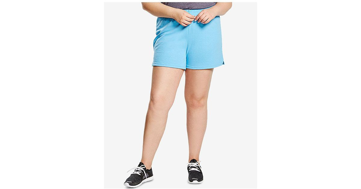 6bb913509663c Lyst - Soffe Curves Plus Size Active Shorts in Blue
