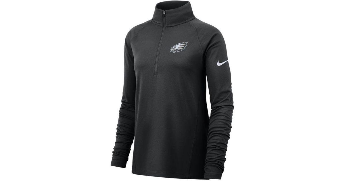 Lyst - Nike Philadelphia Eagles Half-zip Core Element Pullover in Black ca64c82de