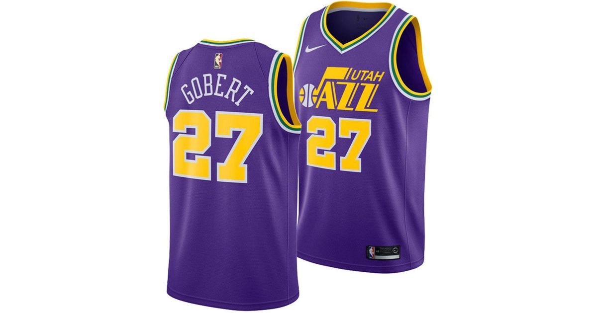 7fdbe9e85d3 Lyst - Nike Rudy Gobert Utah Jazz Hardwood Classic Swingman Jersey in Purple  for Men