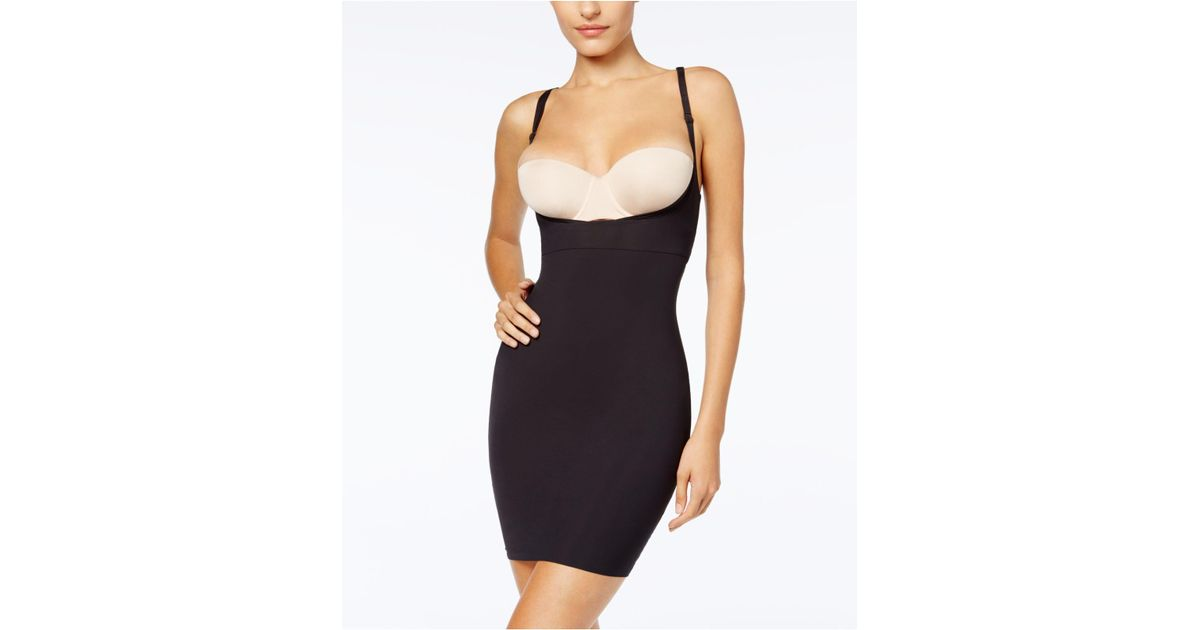 67bd7c78b Maidenform Firm Control Open Bust Body Shaper Slip 2541 in Black - Save 3%  - Lyst