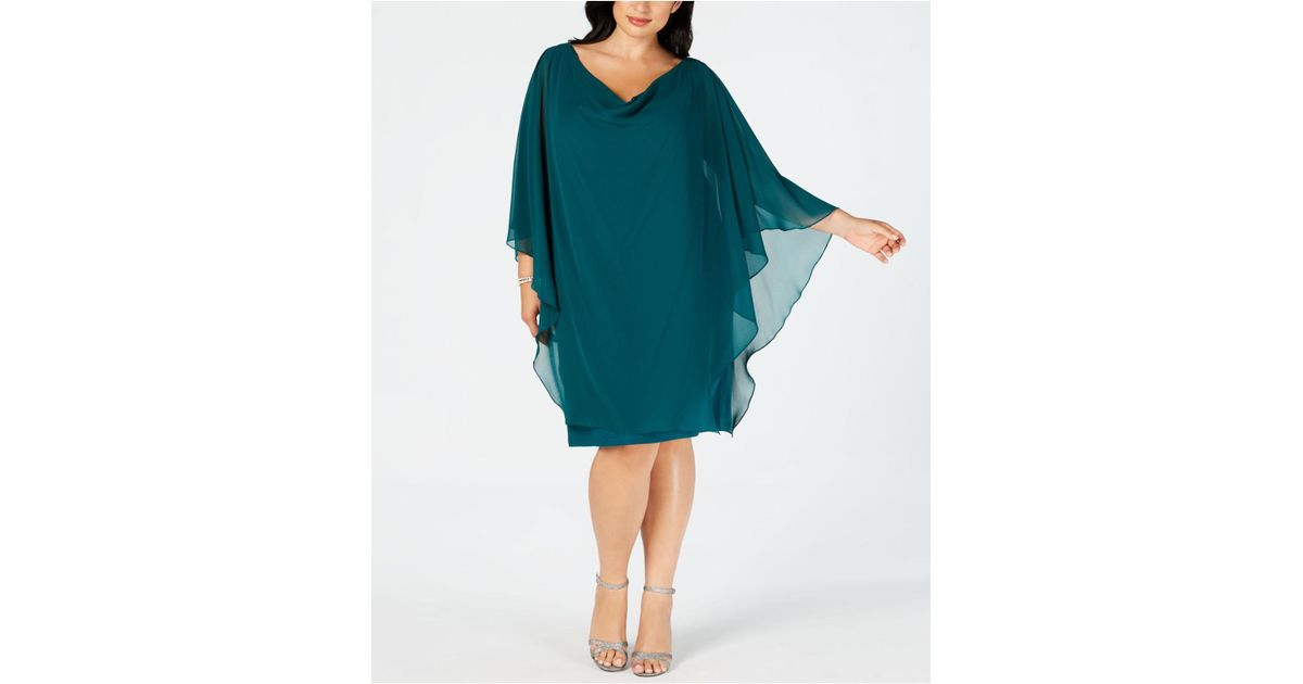 7e9b41ce78c Lyst - Betsy   Adam Plus Size Embellished Overlay Shift Dress in Green