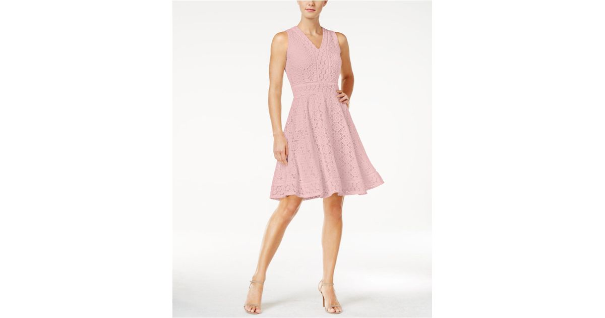 8fc12360ff43 Charter Club Lace Fit & Flare Dress, Created For Macy's in Pink - Lyst