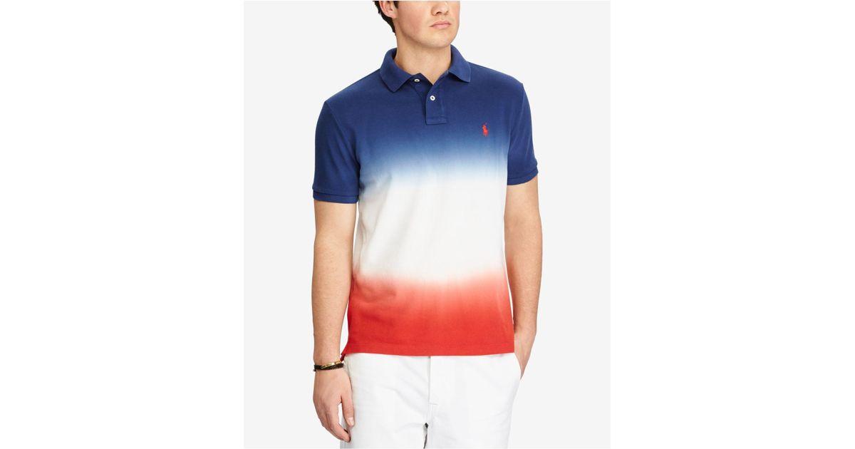 Lyst - Polo Ralph Lauren Men\u0027s Custom Slim Fit Ombré Cotton Polo in Blue  for Men - Save 67%