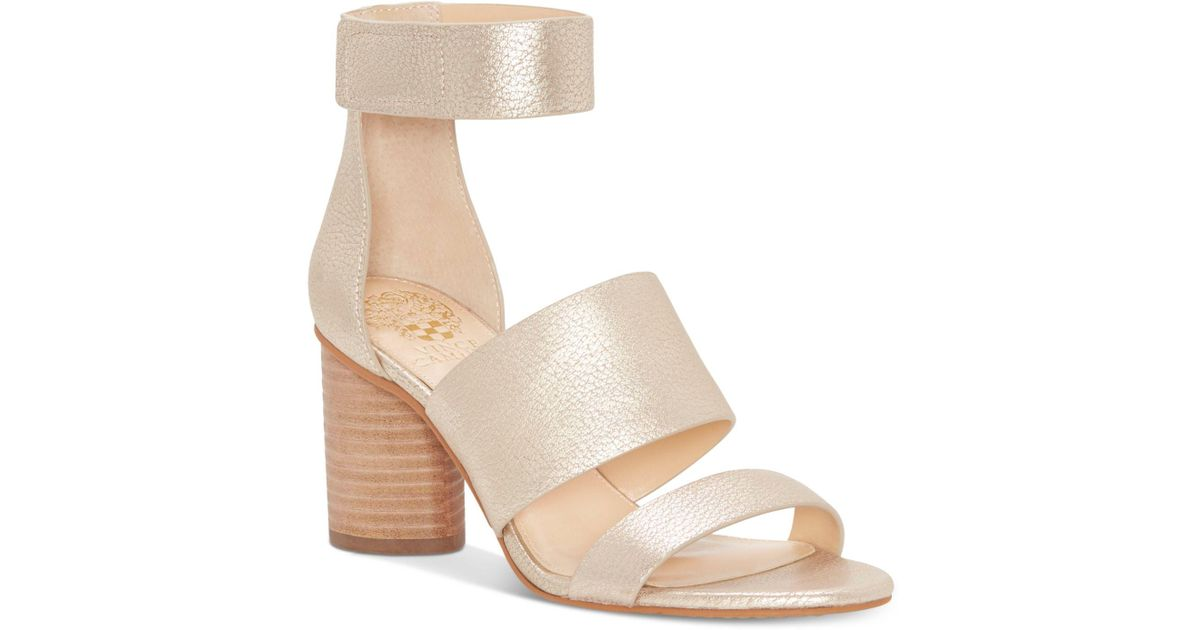 Vince Camuto Junette Cylinder-Heel Dress Sandals Women's Shoes sznmXy