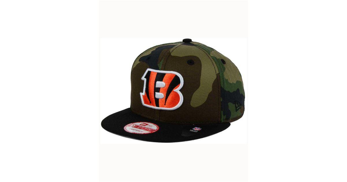 on sale 142bb 051b9 Lyst - KTZ Cincinnati Bengals Camo Two Tone 9fifty Snapback Cap in Green  for Men