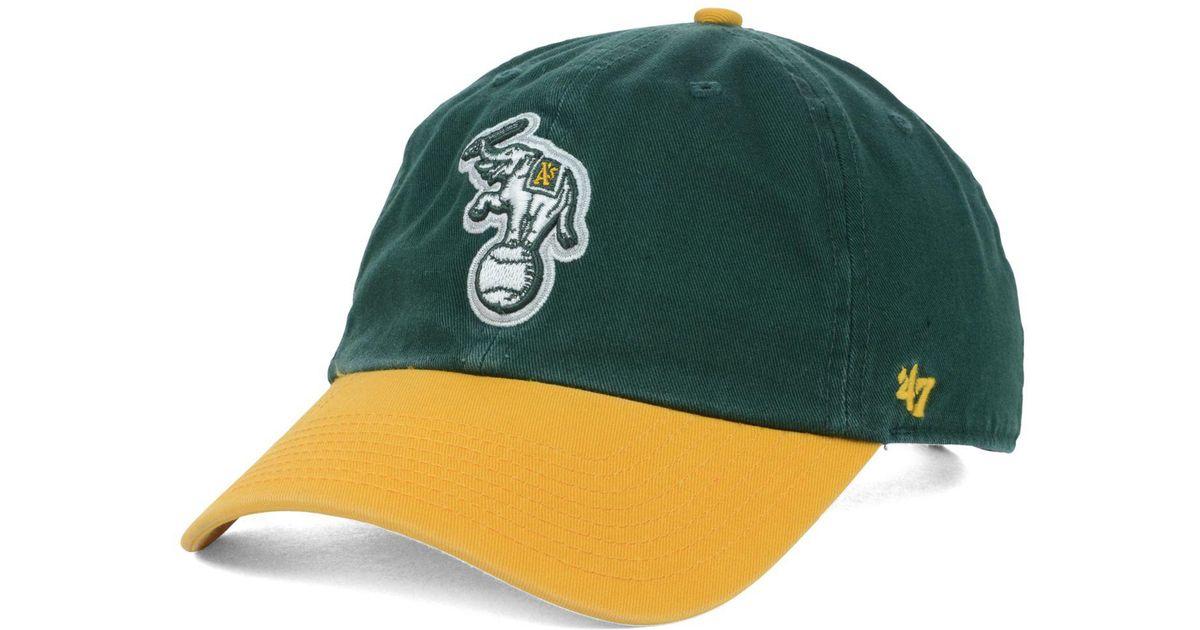 super popular 10a86 764e4 ... canada lyst 47 brand oakland athletics clean up cap in green for men  e3333 fc076