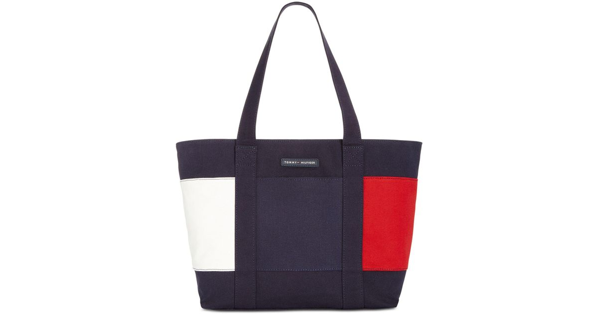 4c7bdb442d2ca Lyst - Tommy Hilfiger Flag Tote in Blue - Save 21%