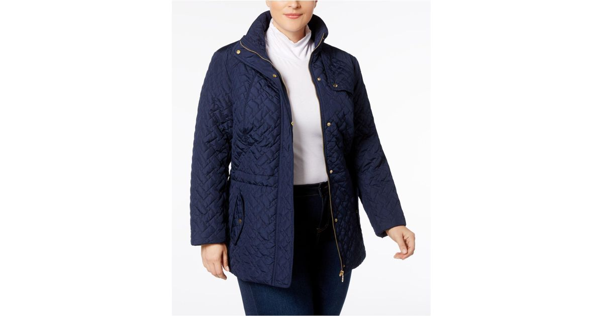a9a8ec13c90 Lyst - Charter Club Plus Size Quilted Anorak Jacket in Blue